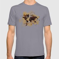 Map Stains Mens Fitted Tee Slate SMALL