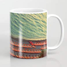 Colorful Beach Umbrellas in Amalfi, Italy Mug