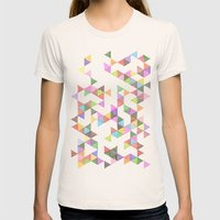 Technicolour Raindrops Womens Fitted Tee Natural SMALL