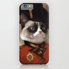 Angry cat. Grumpy General Cat.  iPhone 6 Slim Case