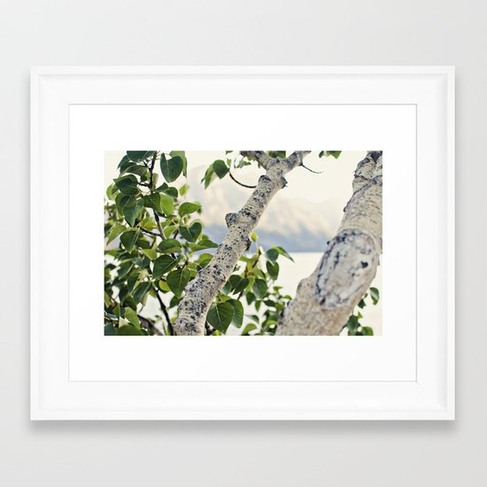 Under the Green Tree Framed Art Print