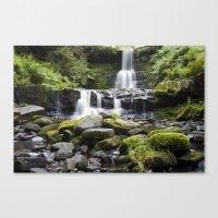 Blaen-y-glyn Waterfall 5 Canvas Print