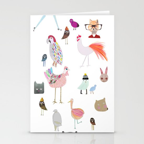Animal collection Stationery Card