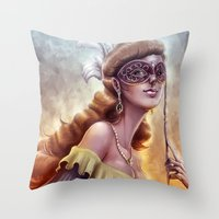 The Carnival Spirit Throw Pillow