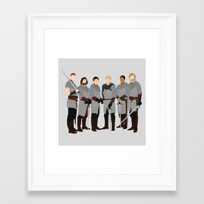 Merlin bbc the knights of the round table framed art for 12 knights of the round table and their characteristics