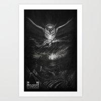 BounD Owl/Moloch  Art Print