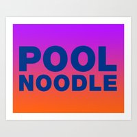 POOL NOODLE Art Print