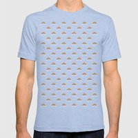 Pixel Rainbow Pattern Mens Fitted Tee Tri-Blue SMALL
