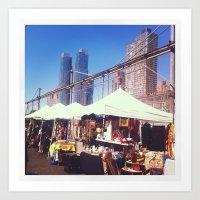 NYC Flea Market Art Print