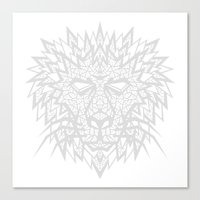 Heart Of A Lion - Gray Canvas Print