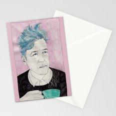 David Lynch drinking coffee. Stationery Cards