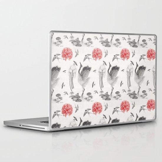 Crane, Swallow, Frog Laptop & iPad Skin