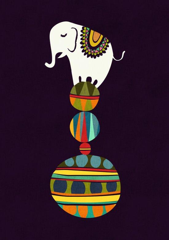 Elephant Circus Art Print