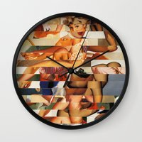 Glitch Pin-Up Redux: Nat… Wall Clock