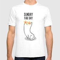 Sunday Fab Day! Mens Fitted Tee White SMALL