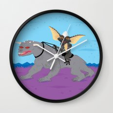 The Halloween Series - Stripe Rides Zuul Wall Clock