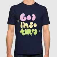 God I'm So Tired Mens Fitted Tee Navy SMALL