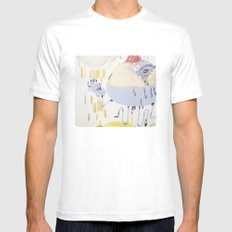 cyclical White SMALL Mens Fitted Tee
