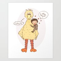 Romney loves Big Bird Art Print