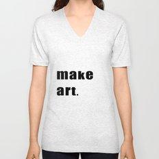 make art. Unisex V-Neck
