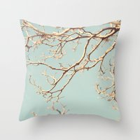 Pale Blue Winter (Tree B… Throw Pillow