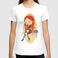 Doctor Mouse Womens Fitted Tee White SMALL