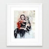Madonna And Child Framed Art Print