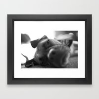 Lazy Dog Framed Art Print
