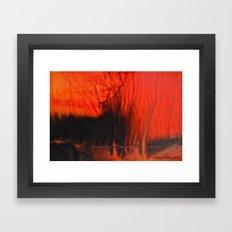Red Sky On Fire Framed Art Print