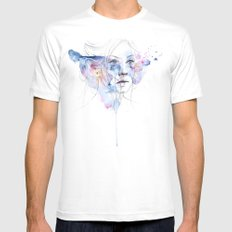 water show SMALL White Mens Fitted Tee