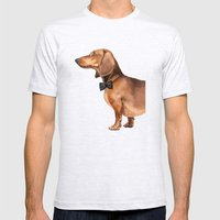 Portrait Of An Elegant D… Mens Fitted Tee Ash Grey SMALL