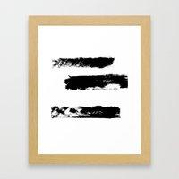 Brush 02 Framed Art Print