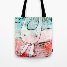 Who me? - little pink bunny Tote Bag