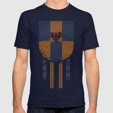 Ravenclaw Crest Mens Fitted Tee Navy SMALL
