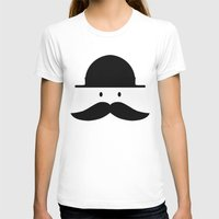 mustache T-shirts featuring mustache by Artificial primate