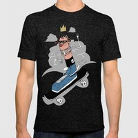Sk8r Foot Mens Fitted Tee Tri-Black SMALL