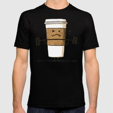 Strong Coffee SMALL Mens Fitted Tee Black