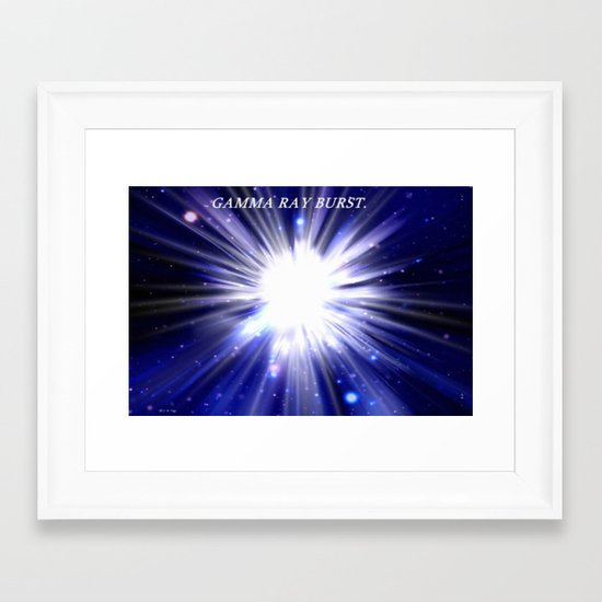 GAMMA RAY BURST. Framed Art Print