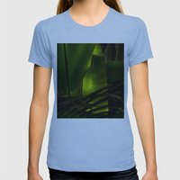 Tropical Womens Fitted Tee Athletic Blue SMALL
