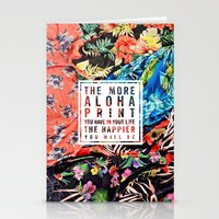 Aloha Print Life Stationery Cards