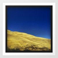 golden hillside Art Print