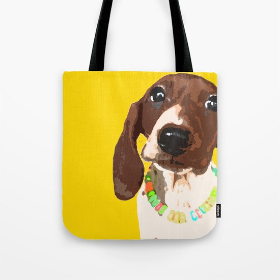 """Wild and Spree"" ~ Dachshund, Weiner Dog, Doxie, everywhere!  Tote Bag"