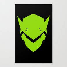 Green Ninja Canvas Print