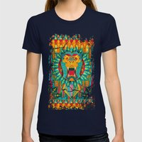 Lion Womens Fitted Tee Navy SMALL