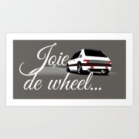 Joie de Wheel Art Print