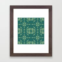 Nug Pattern Framed Art Print