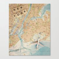 Let's Fly To New York Canvas Print