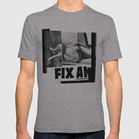 Temporary Fix Mens Fitted Tee Athletic Grey SMALL