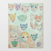 The Cat Lady Canvas Print