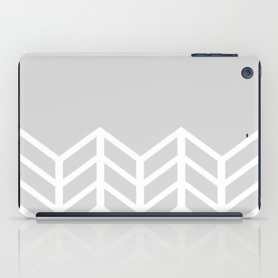 LACE CHEVRON (GRAY) iPad Case